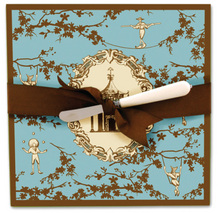 CB328 - <strong>Chinoiserie Cheese Plate Server</strong><br>SPECIAL PRICE!