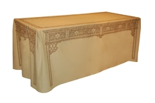 DU108 - 8' Table 'Dress-up' Chippendale pattern, Sepia