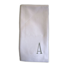 NI701A - Noble Initial Damask Dinner Napkins - A