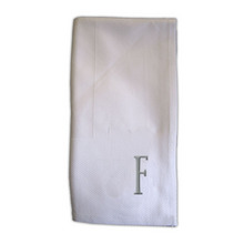 NI701F - Noble Initial Damask Dinner Napkins - F