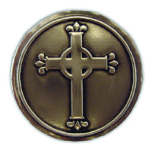 PA101 - Pewter-A-Peel Cross, carded