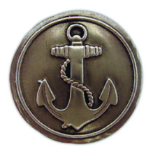 PA103 - Pewter-A-Peel Anchor, carded