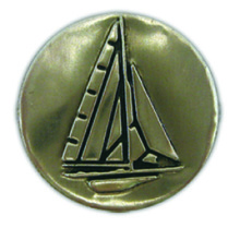 PA107 - Pewter-A-Peel Sailboat, carded