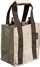 PT800 - Party To Go Tote<br>Brown/Tan