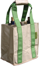 PT801 - Party To Go Tote - Green/Tan