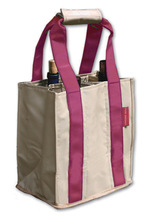 PT802 - Party To Go Tote<br>Pink/Tan