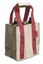 PT803 - Party To Go Tote - Red/Tan