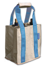 PT805 - Party To Go Tote<br> Blue/Tan