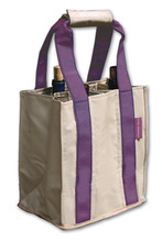 PT806 - Party To Go Tote<br>Purple/Tan
