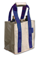 PT808 - Party To Go Tote<br>Royal Blue/Tan